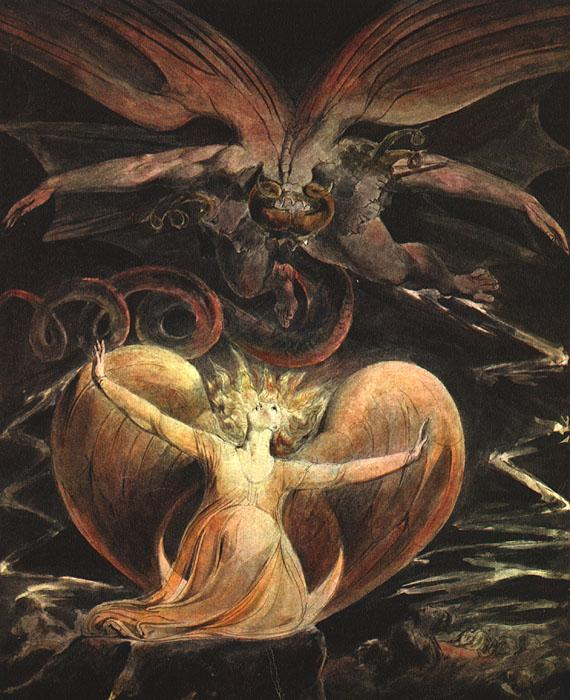 William Blake The Great Red Dragon and the Woman Clothed with the Sun oil painting image