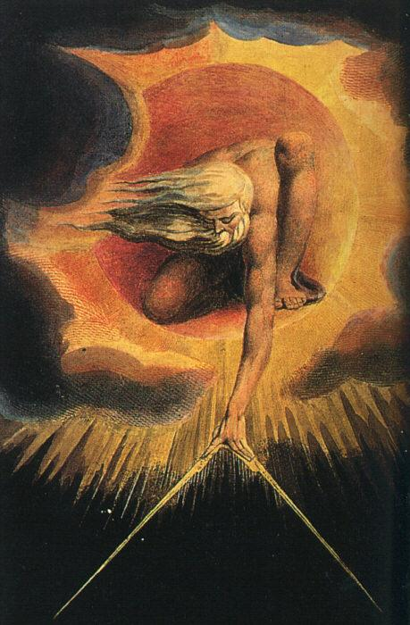 William Blake God as an Architect oil painting image