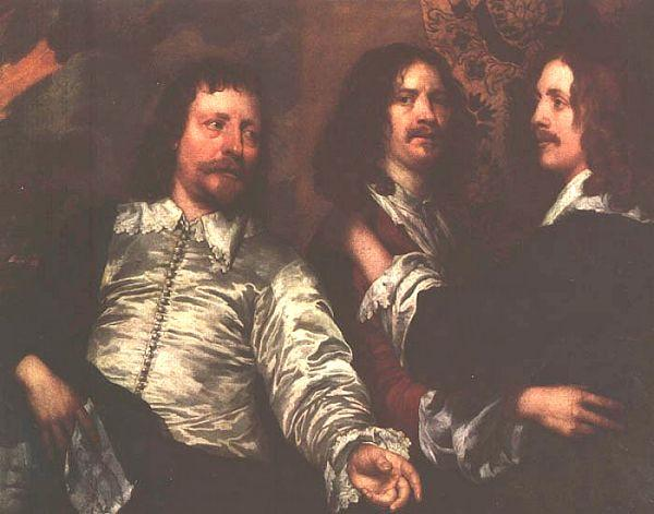 William Dobson The Artist, Sir Charles Cotterell and Balthasar Gerbier oil painting image
