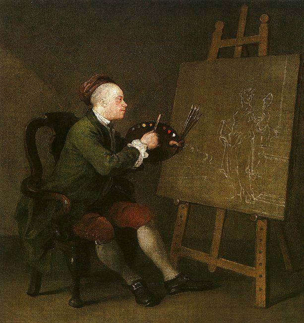 William Hogarth Self Portrait at the Easel oil painting image