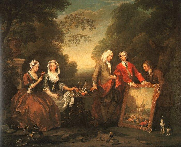 William Hogarth The Fountaine Family Germany oil painting art