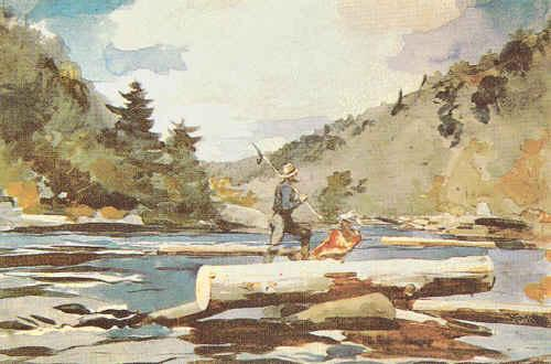 Winslow Homer Hudson River, Logging Germany oil painting art