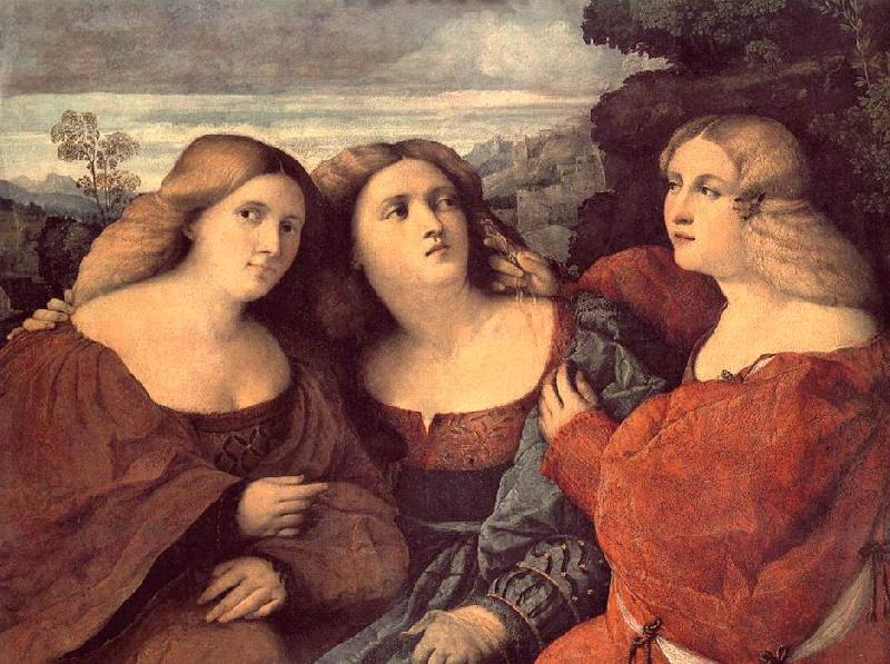 Palma Vecchio The Three Sisters (detail) dh oil painting image