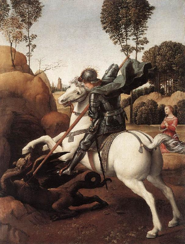 RAFFAELLO Sanzio St George and the Dragon st oil painting image