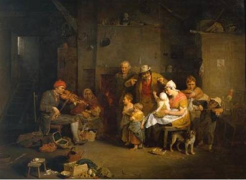 Sir David Wilkie The Blind Fiddler oil painting image