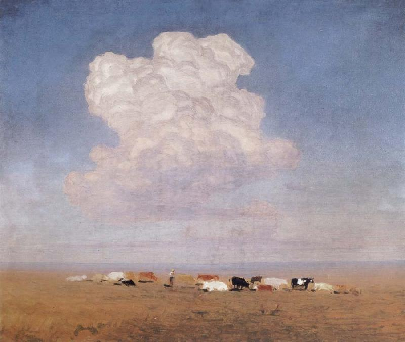Arkhip Ivanovich Kuindzhi Noon-the drove on the campo oil painting picture