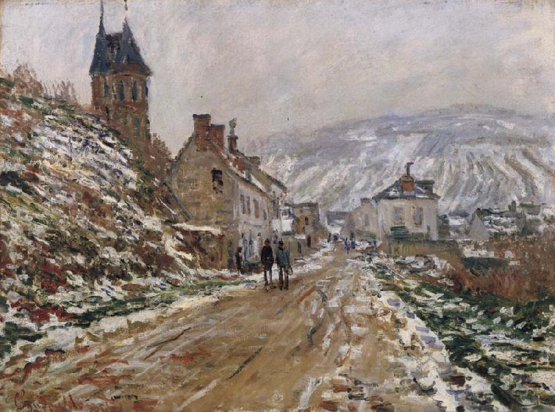 Claude Monet The Road in Vetheuil in Winter oil painting picture