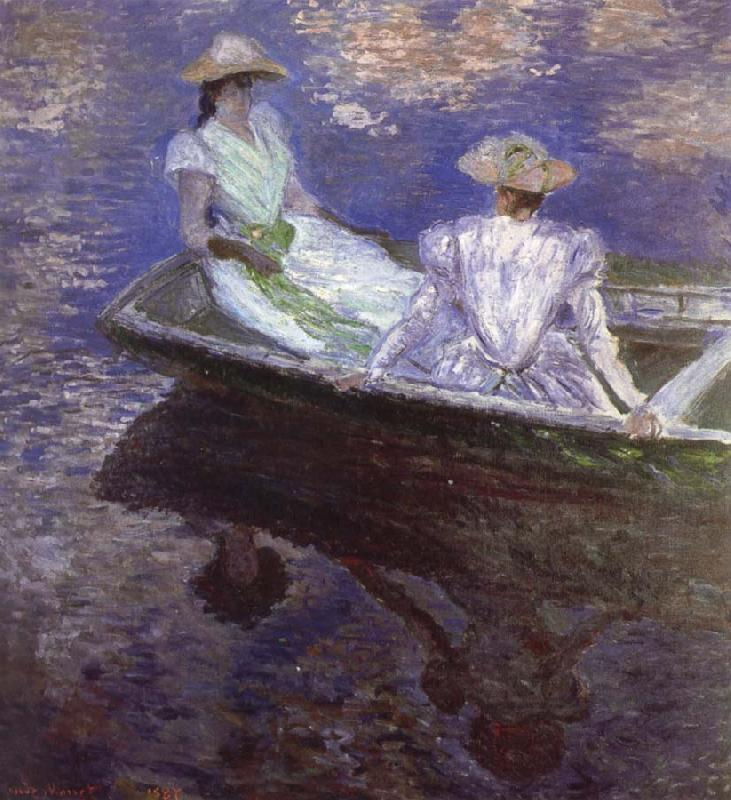 Claude Monet Young Girls in the Rowing Boat oil painting picture