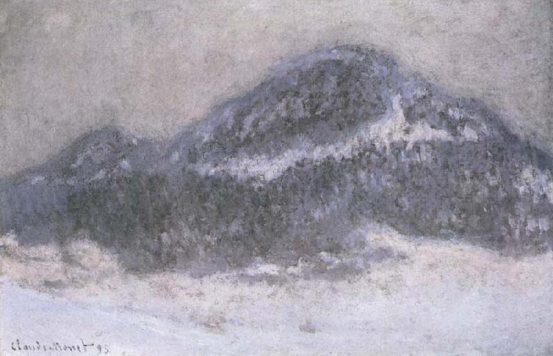 Claude Monet Mount Kolsaas in Misty Weather oil painting picture