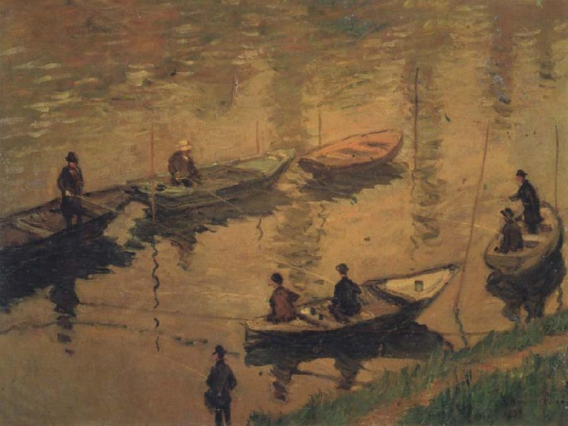Claude Monet Anglers on the Seine at Poissy oil painting picture