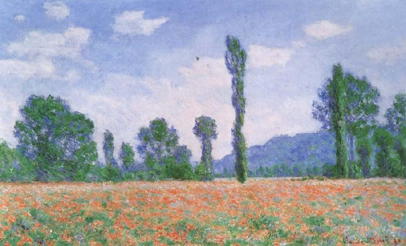 Claude Monet Poppy Field at Giverny oil painting picture