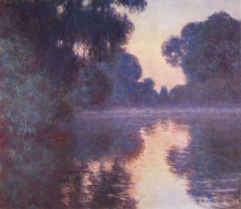 Claude Monet Arm of the Seine near Giverny at Sunrise oil painting picture