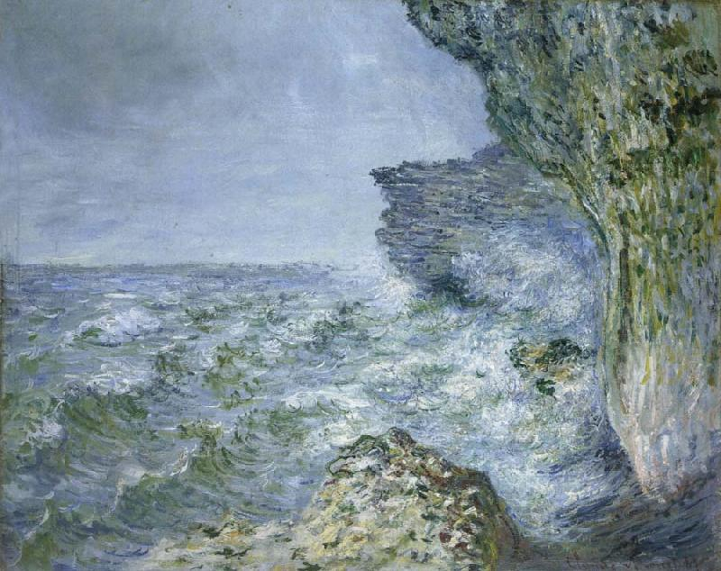 Claude Monet The Sea at Fecamp oil painting picture