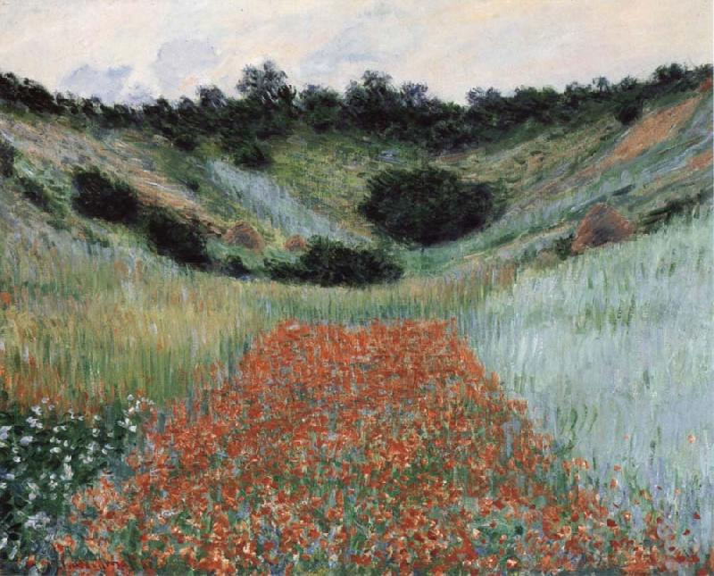 Claude Monet Poppy Field in a Hollow near Giverny oil painting picture