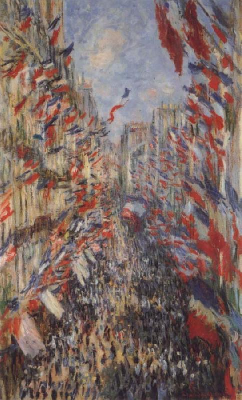 Claude Monet The Rue Montorgueil,3oth of June 1878 oil painting picture