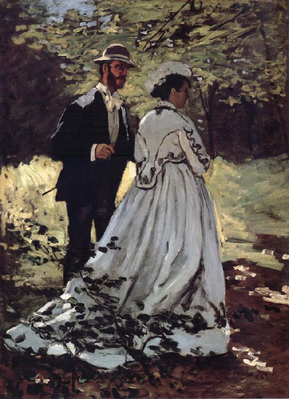 Claude Monet Les Promeneurs oil painting picture