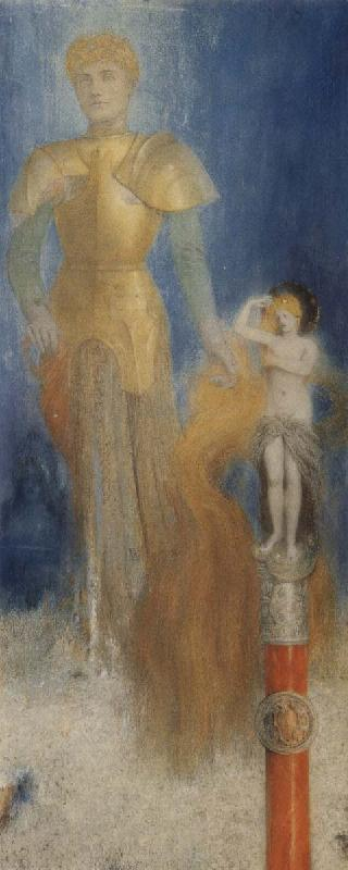 Fernand Khnopff Victoria Like Flames her Long Red Tresses Licked oil painting picture