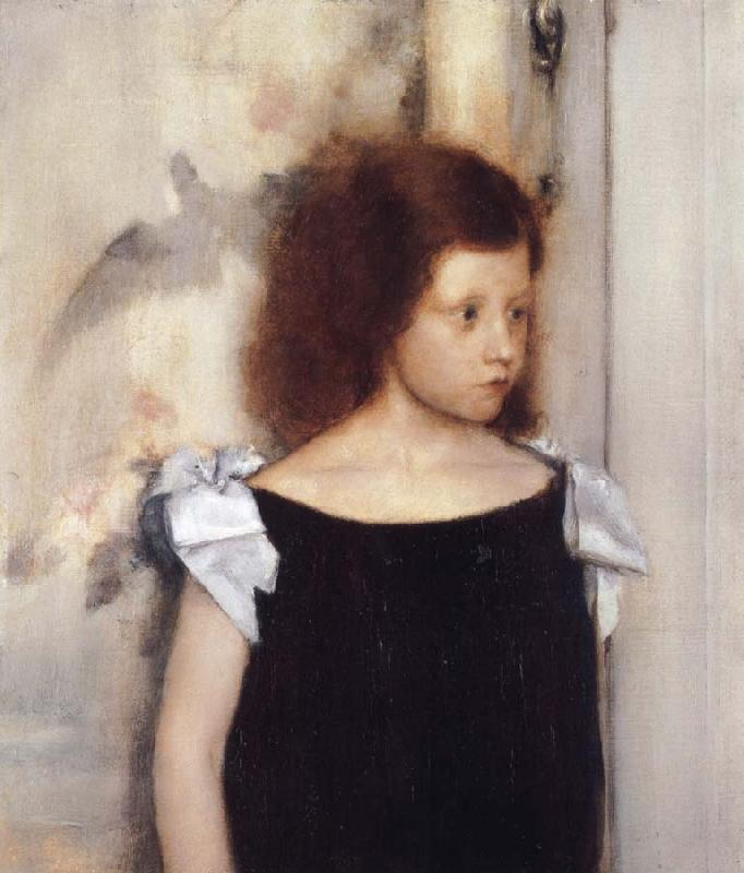 Fernand Khnopff Portrait of Gabrielle Braun oil painting picture