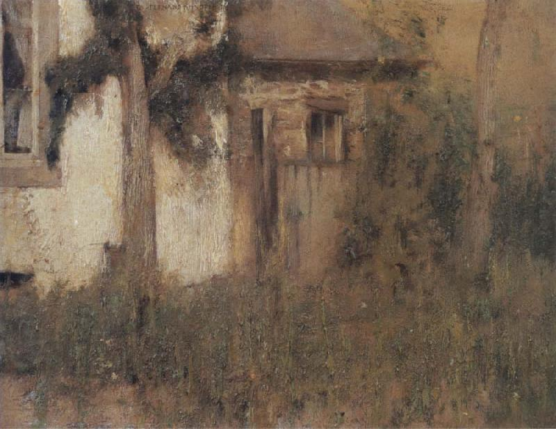 Fernand Khnopff In Fosset The Farmhouse Garden oil painting picture