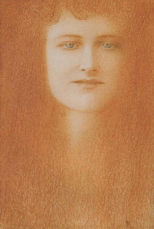 Fernand Khnopff Study of A woman oil painting picture