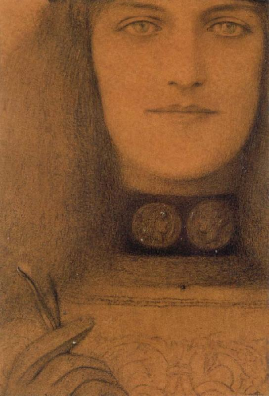 Fernand Khnopff Necklace With Medallions oil painting picture