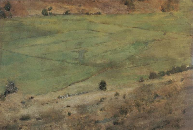 Fernand Khnopff In Fosset.Grass oil painting picture