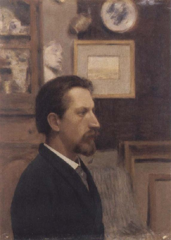 Fernand Khnopff Portrait of a Man oil painting picture