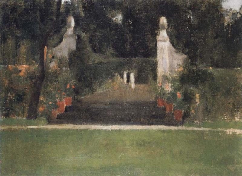Fernand Khnopff The Garden in Famelettes oil painting picture