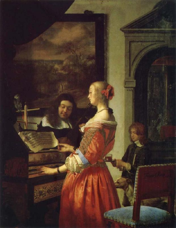 Frans van mieris the elder The Duet oil painting picture