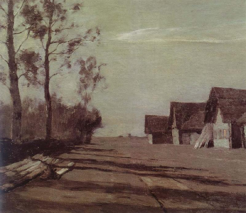 Isaac Levitan Village by Moonlight oil painting picture