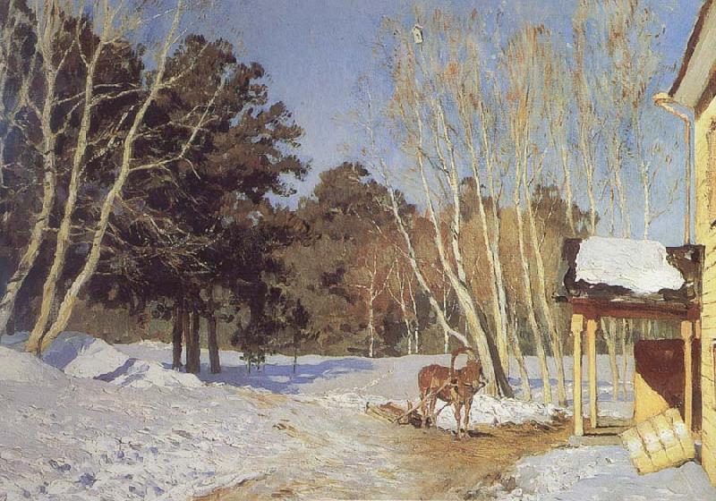 Isaac Levitan March oil painting picture