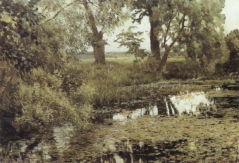 Isaac Levitan Overgrown Pond oil painting picture