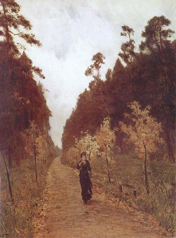 Isaac Levitan Autumn Day at Sokolniki oil painting picture