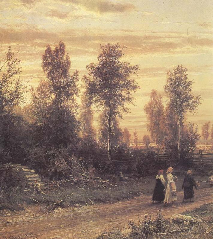 Ivan Shishkin Evening oil painting picture