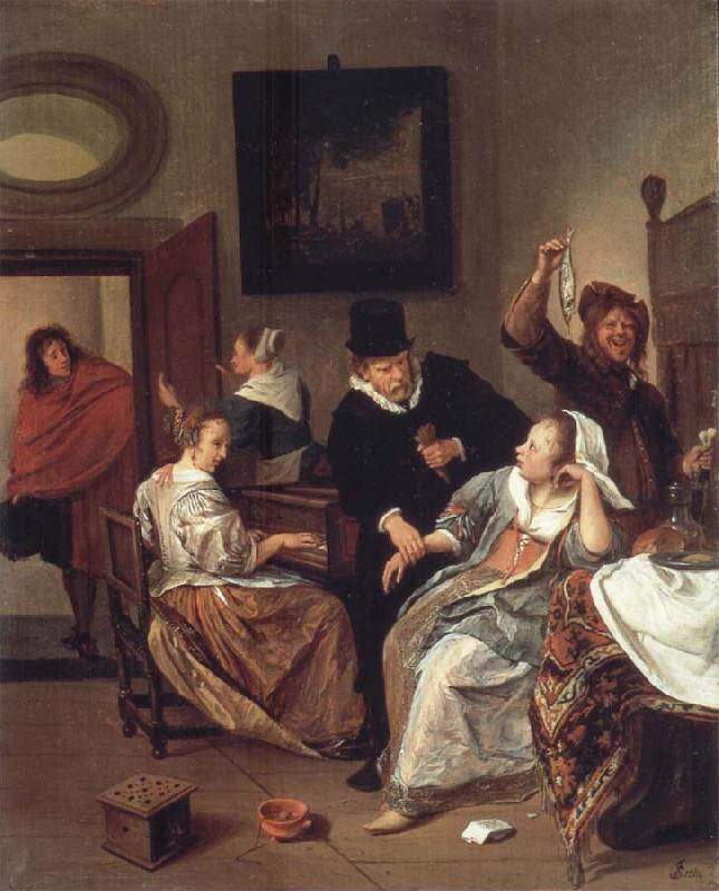 Jan Steen The Doctor-s vistit oil painting picture