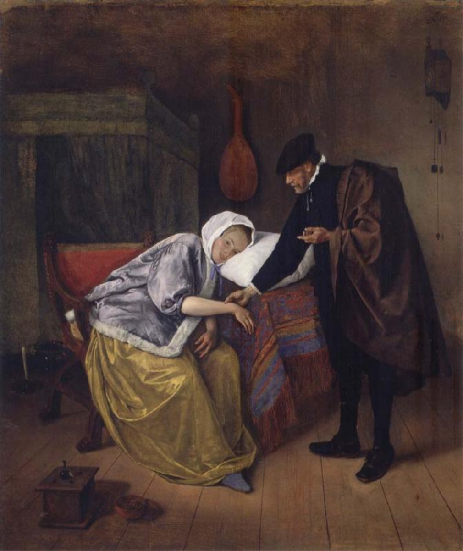Jan Steen The Sick woman oil painting picture