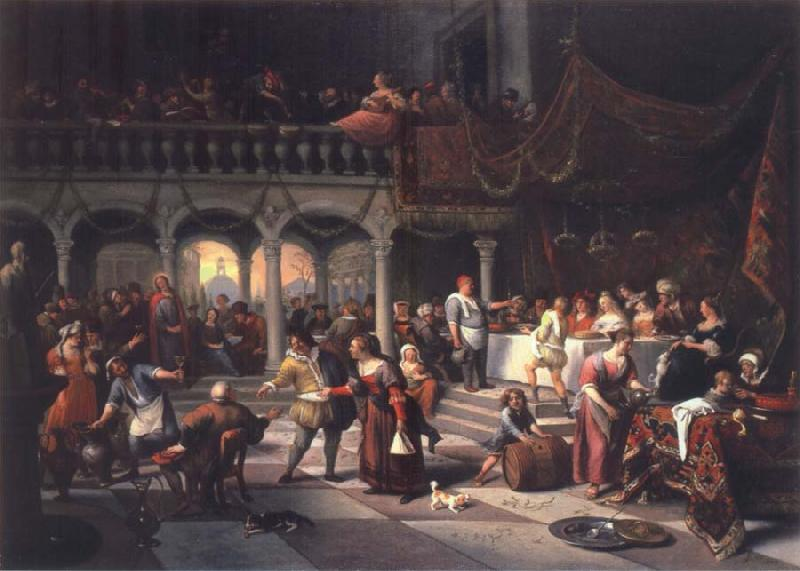 Jan Steen The Wedding at Cana oil painting picture