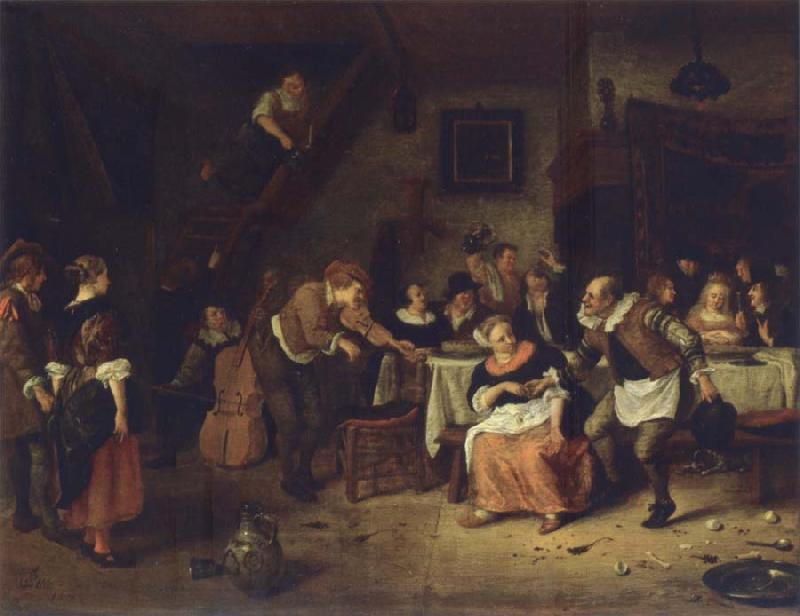 Jan Steen Peasant wedding oil painting picture