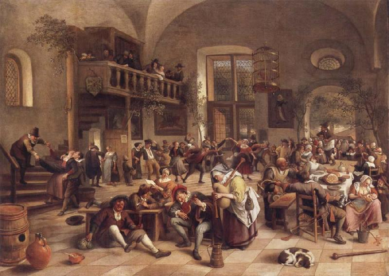 Jan Steen Interior of an inn oil painting picture
