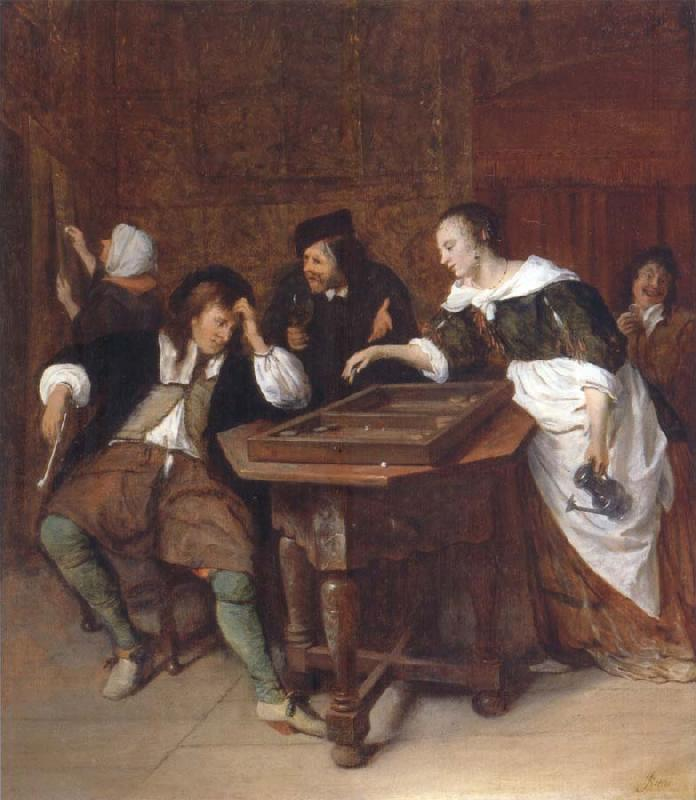 Jan Steen The Tric-trac players oil painting picture