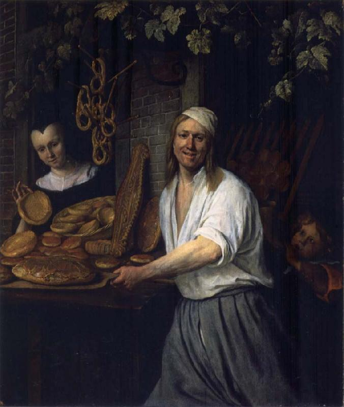 Jan Steen The Leiden Baker Arent Oostwaard and his wife Catharina Keizerswaard oil painting picture