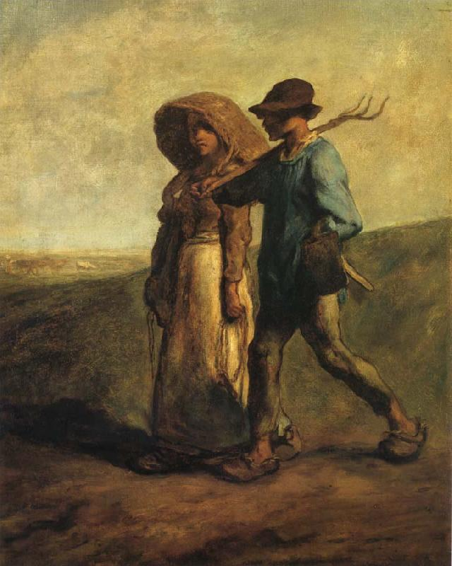 Jean Francois Millet Going to work oil painting picture