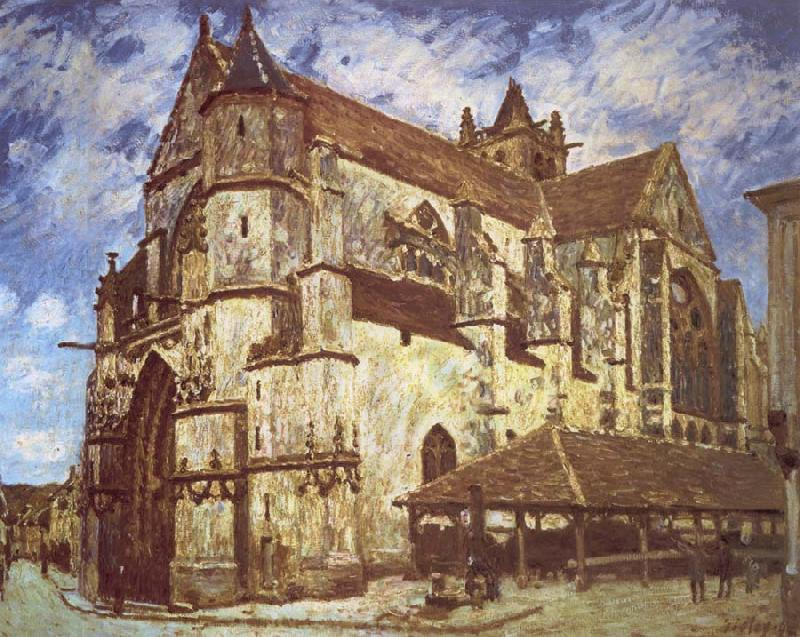 Jean-Antoine Watteau The church at Moret,Evening oil painting image