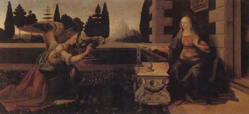 LEONARDO da Vinci The Annunciation oil painting picture