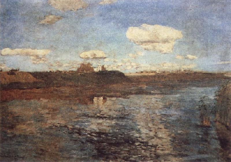 Levitan, Isaak Lake oil painting picture