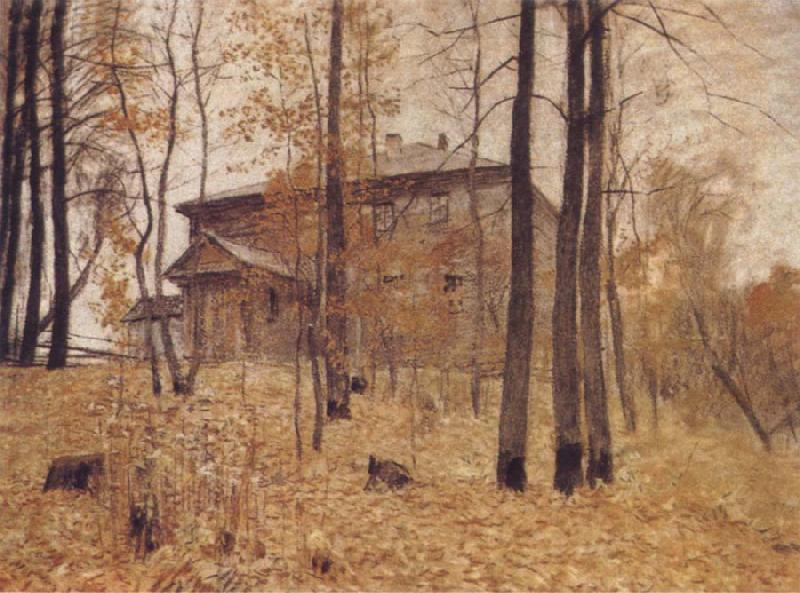 Levitan, Isaak Autumn-Garden Plot oil painting picture
