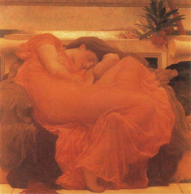 Lord Frederic Leighton Flaming June oil painting picture