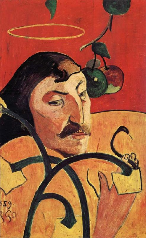 Paul Gauguin Portrait cbarge de Gauguin oil painting picture
