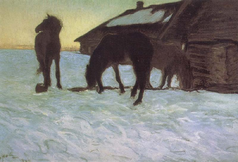 Valentin Serov Colts at a Watering-Place. oil painting picture