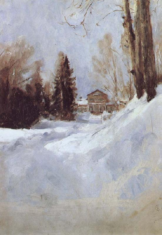 Valentin Serov Winter in Abramtsevo-A House oil painting picture